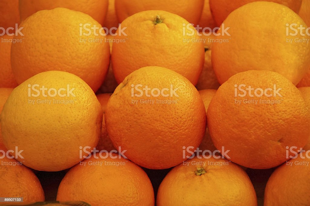 Oranges on market royalty-free stock photo