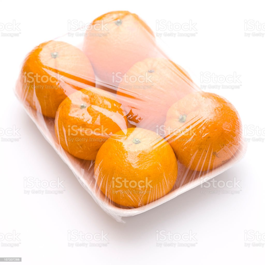 Oranges on tray royalty-free stock photo