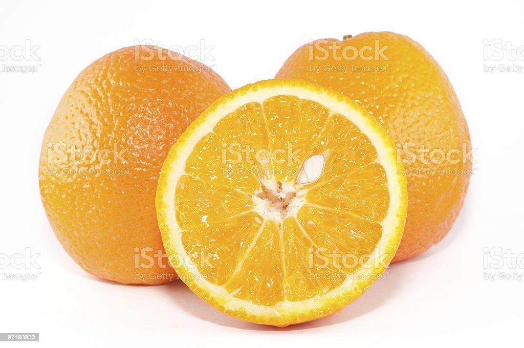 Oranges on white royalty-free stock photo