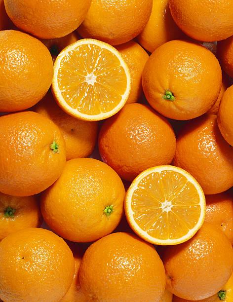 Oranges wallpaper (4) stock photo