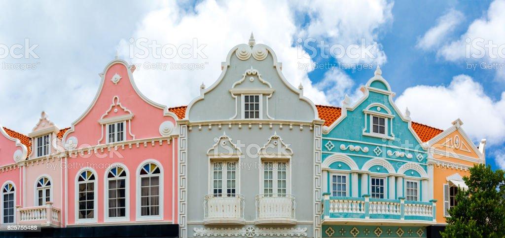 Oranjestad downtown panorama – zdjęcie