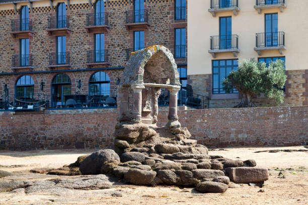 Oratory of Saint-Guirec in Ploumanac'h stock photo
