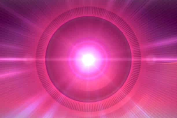 brillo del orbe. fondo rosa y el círculo alrededor del sol - sequence animation fotografías e imágenes de stock