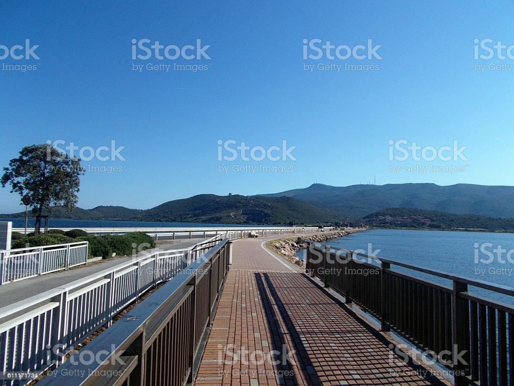orbetello - urban landscape stock photo