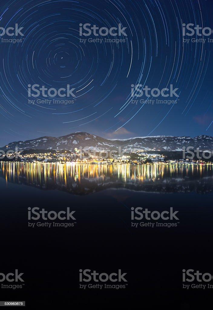 Orbital Motion Lake Millstatt In Winter - Royalty-free 2014 Stock Photo