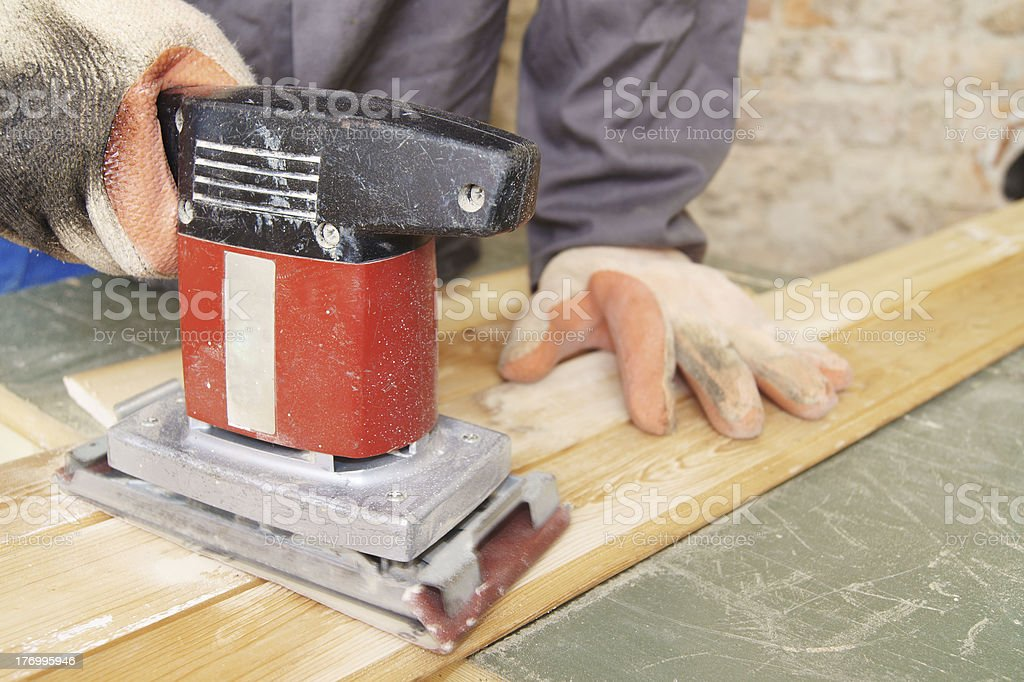 Orbital sander stock photo