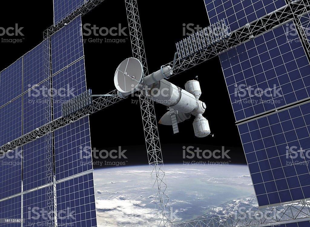 Orbital station royalty-free stock photo