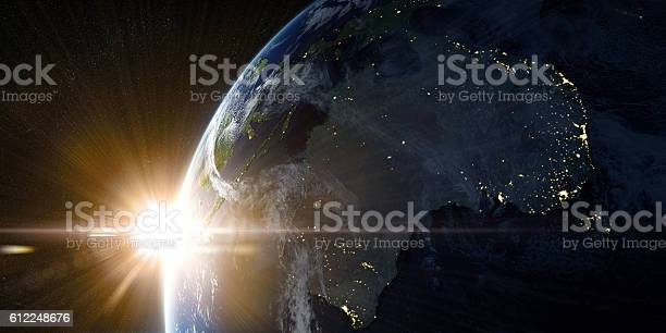 Photo of Orbital view on Earth from space