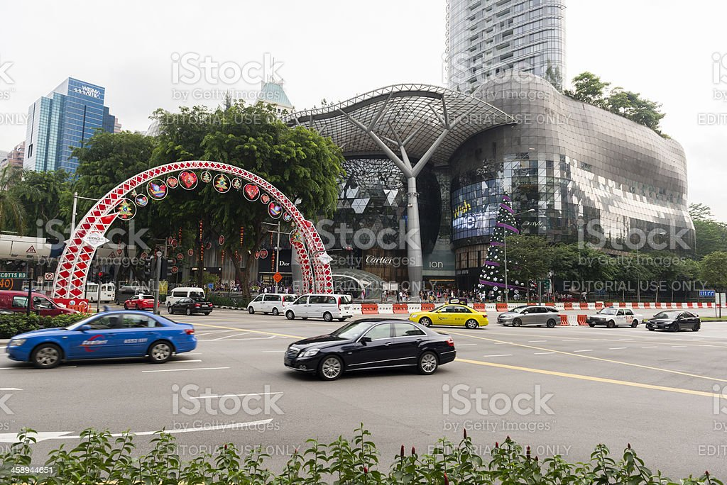 Orchard Road During Christmas royalty-free stock photo