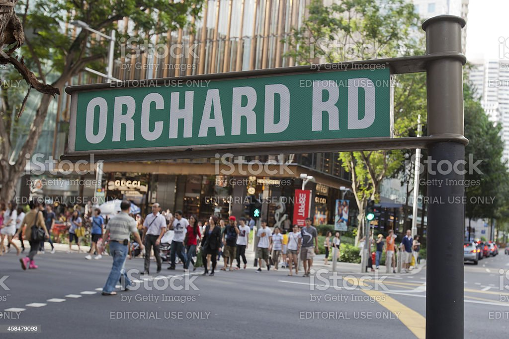 Orchard Road in Singapore stock photo