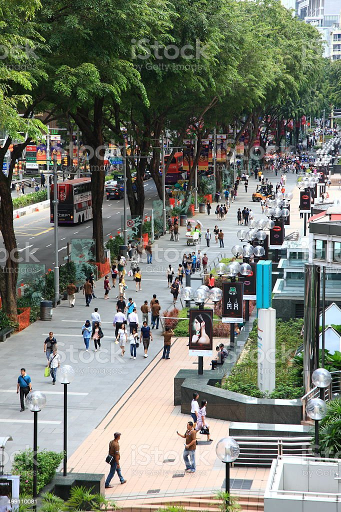 Orchard road stock photo