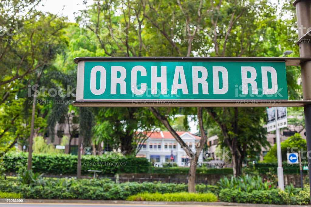 Orchard Road Sign, SIngapore stock photo