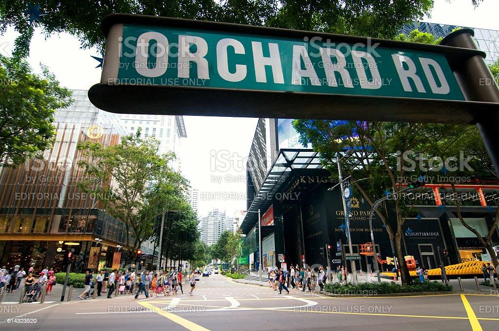 Orchard Road, Singapore stock photo
