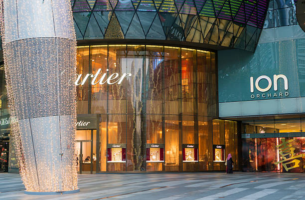 ION Orchard shopping mall in Singapore stock photo
