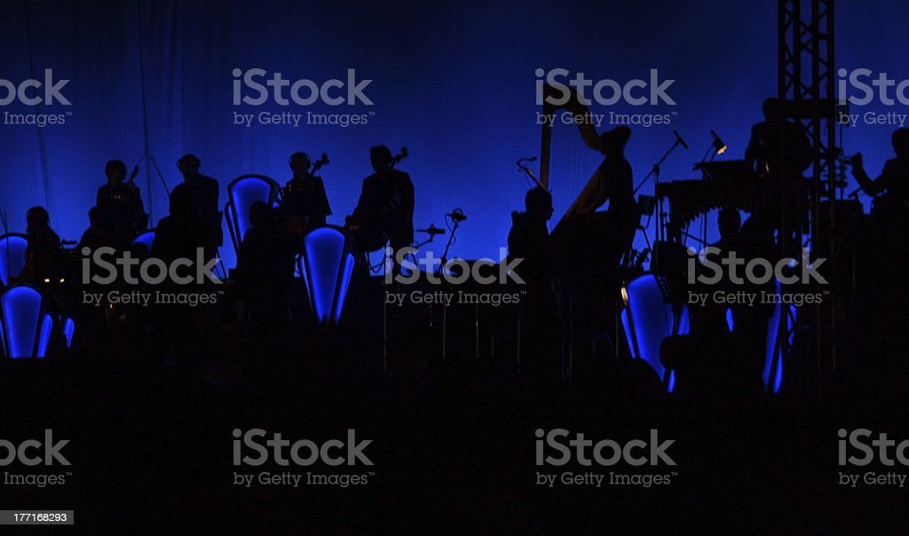 Orchestra stock photo