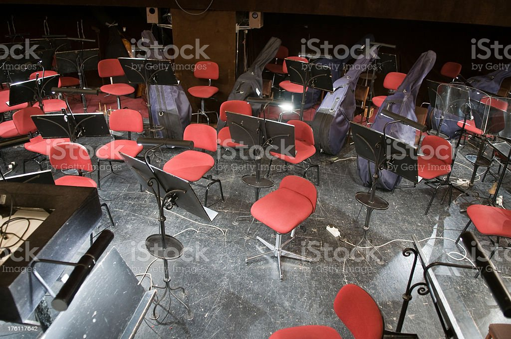 Orchestra pit. royalty-free stock photo