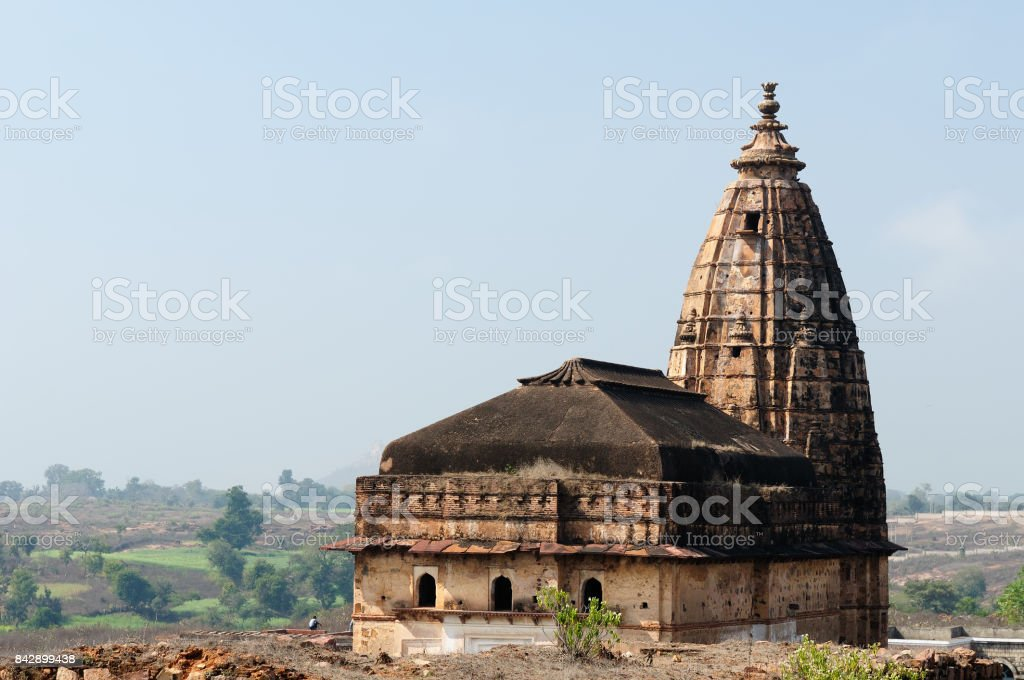 Orchha Fort in India stock photo