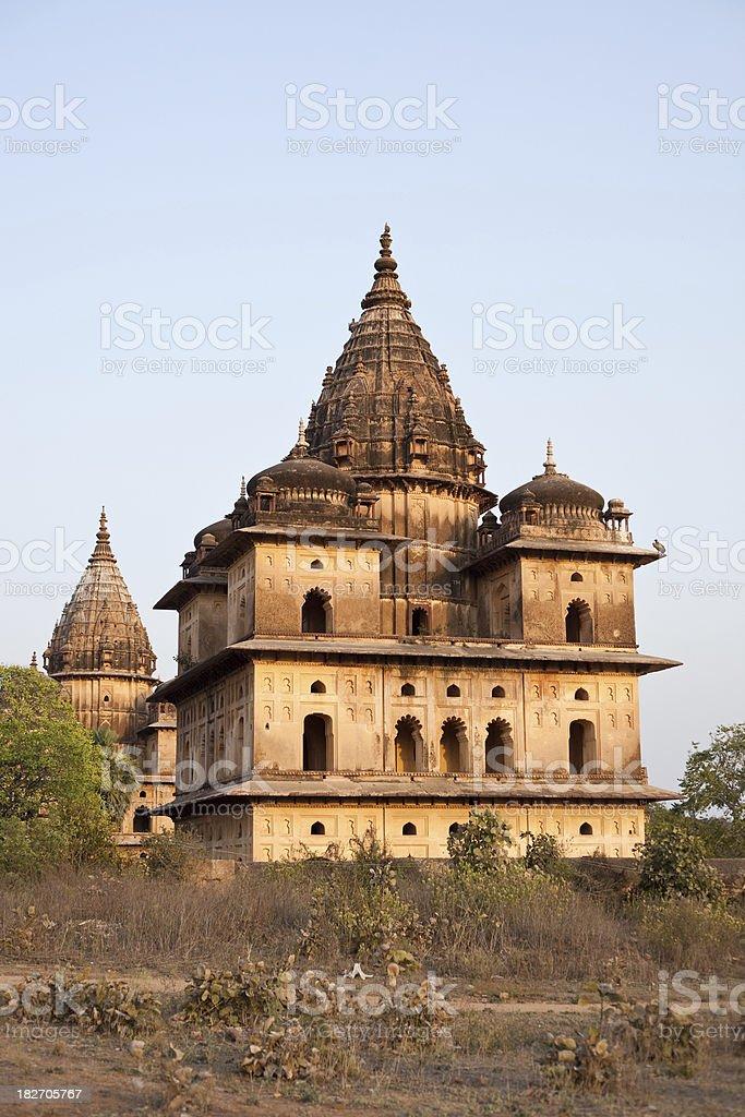 Orchha, India Cenotaphs stock photo