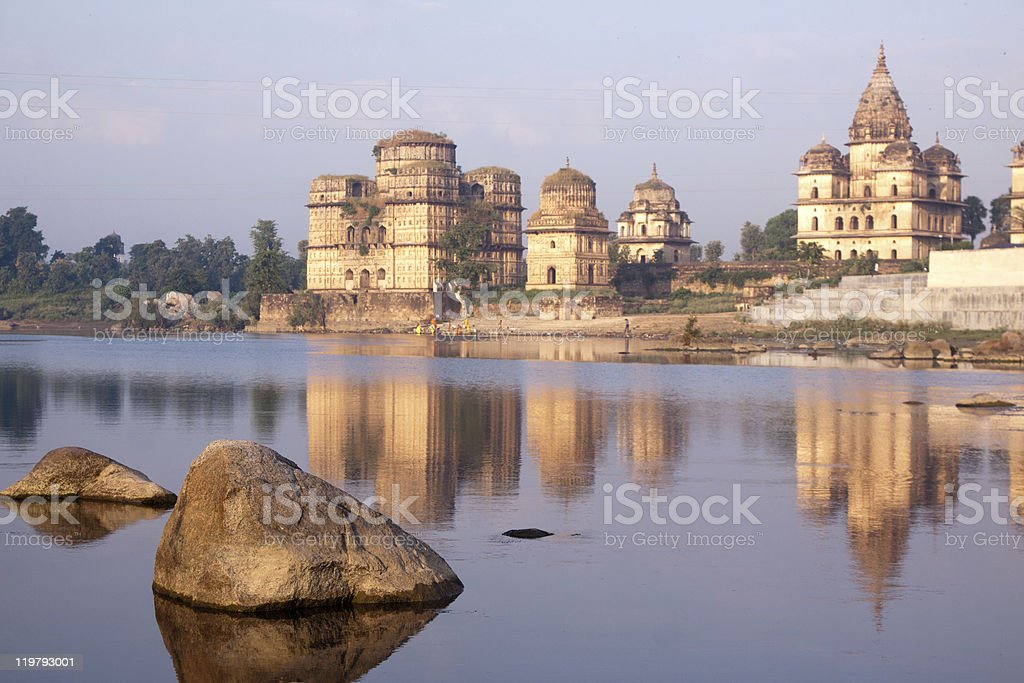 Orchha temples in Madhya Pradesh, India stock photo