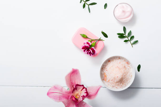 Orchid and bath salt, soap, cream – zdjęcie