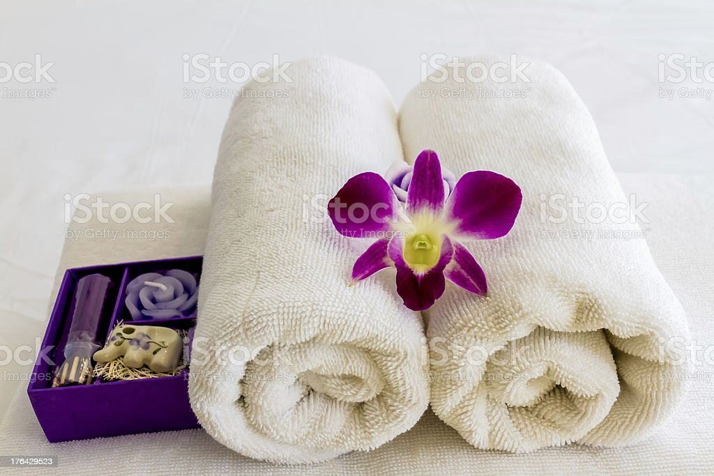 orchid and spa concept royalty-free stock photo