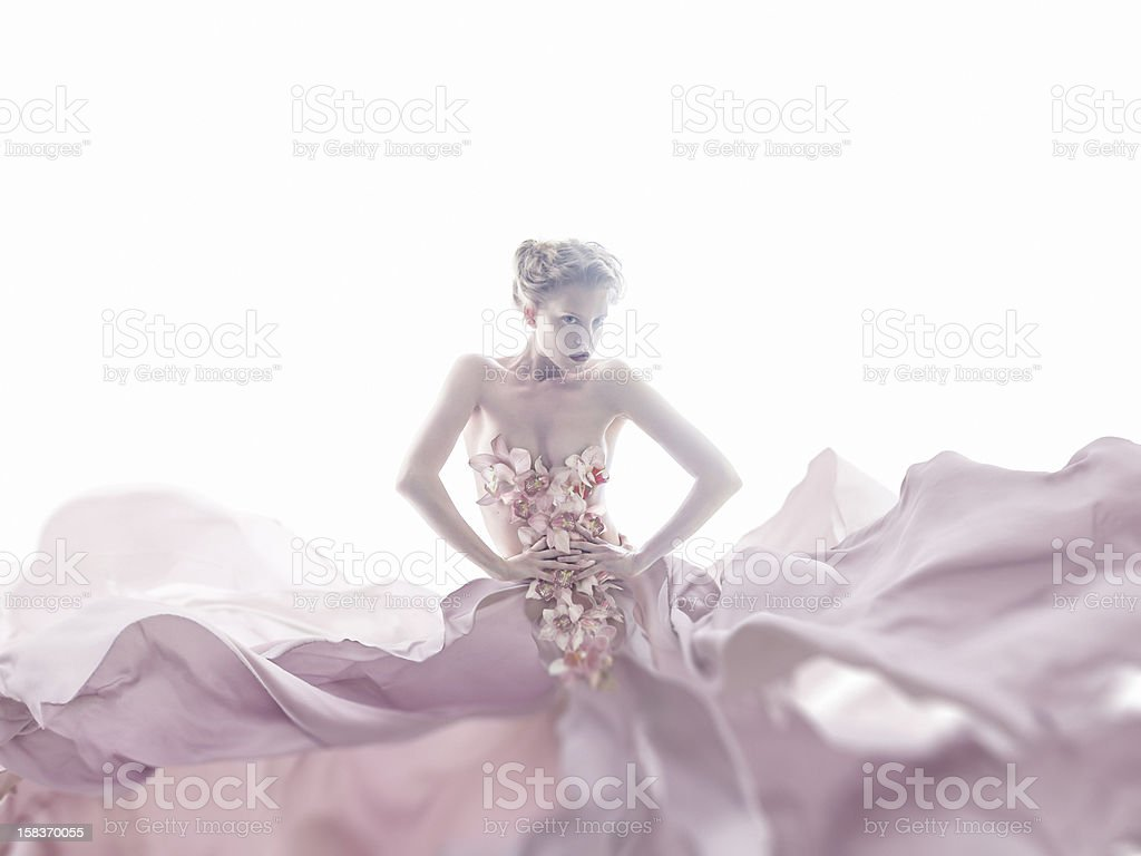 Orchid Dress stock photo