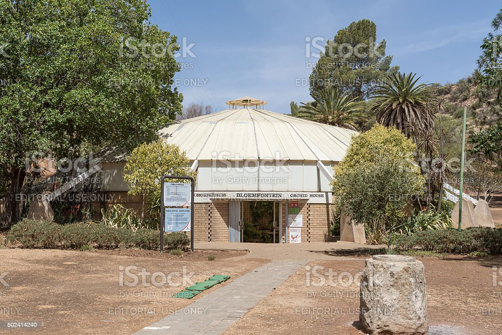 Orchid house in Bloemfontein stock photo
