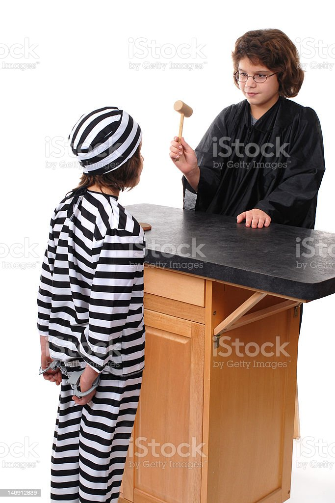 Order in the Court royalty-free stock photo