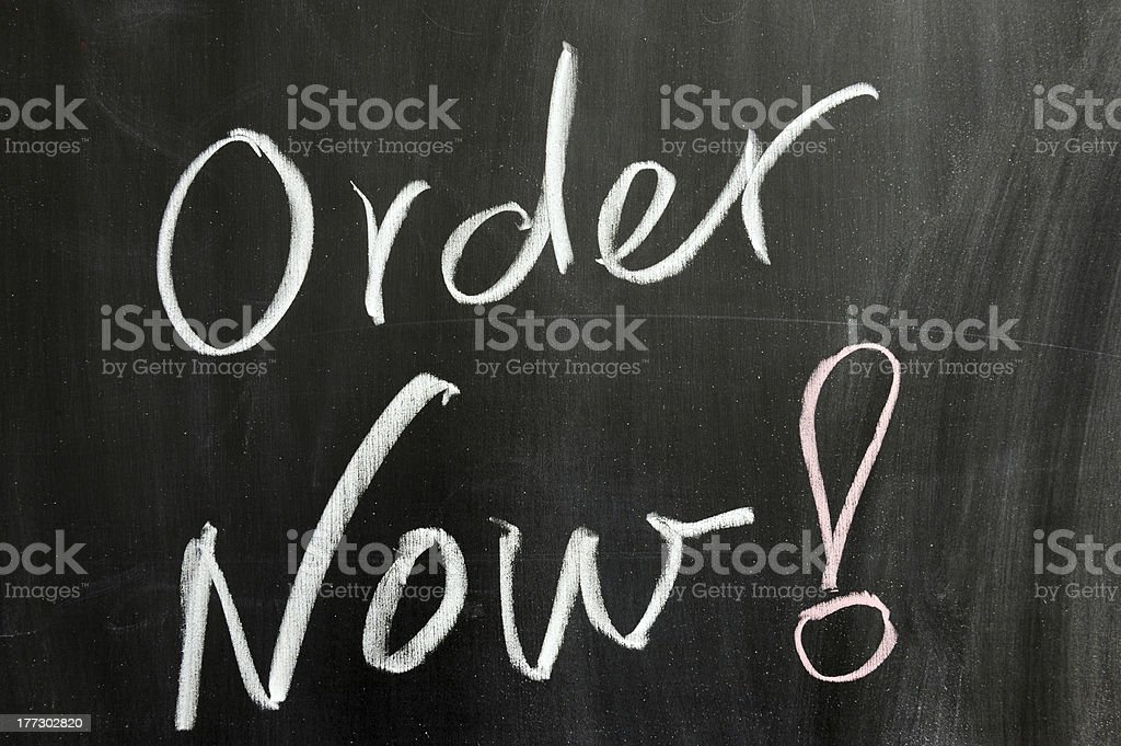 Order now royalty-free stock photo