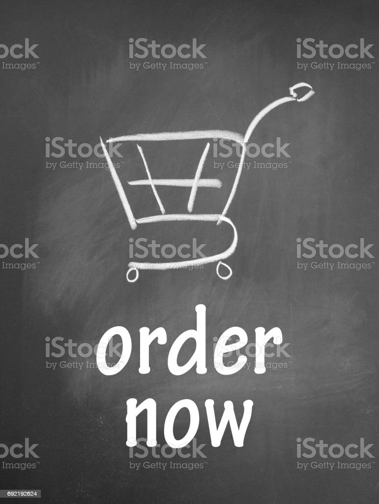 order now sign stock photo