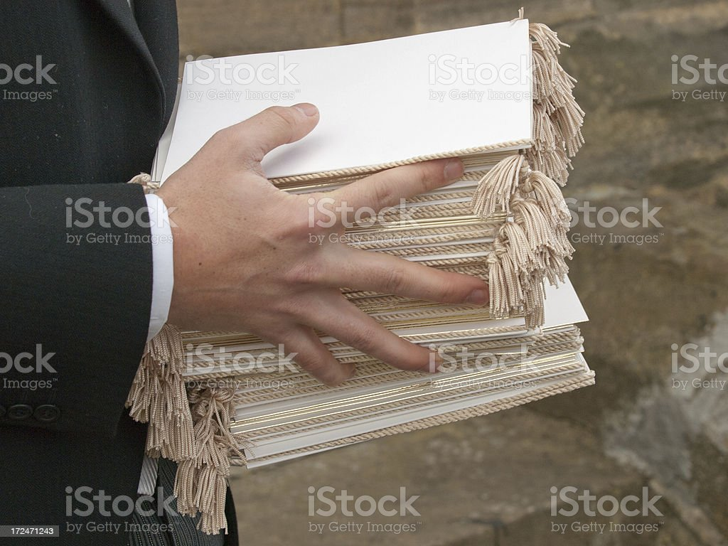 Order of service royalty-free stock photo