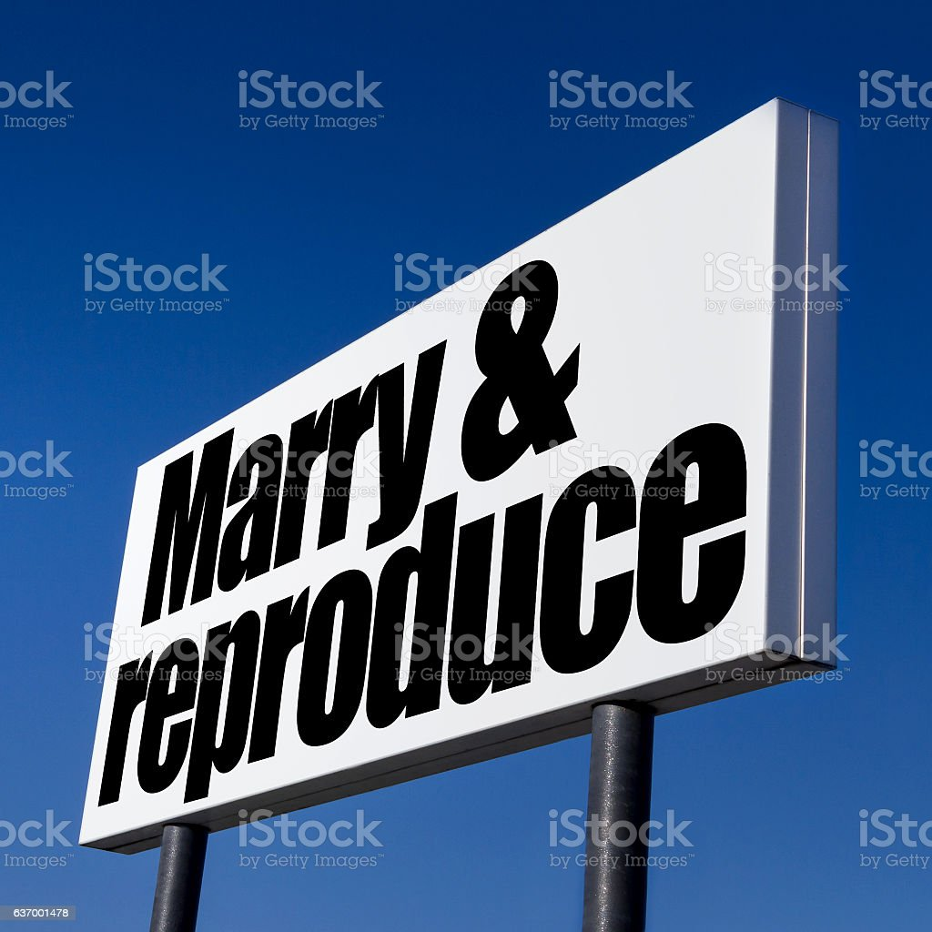 Order to Marry and Reproduce stock photo