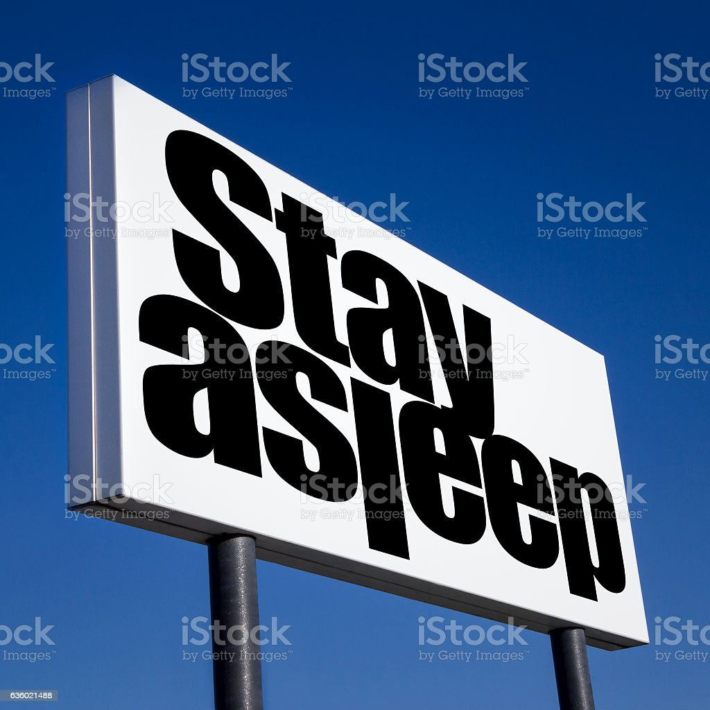 Order to stay asleep stock photo
