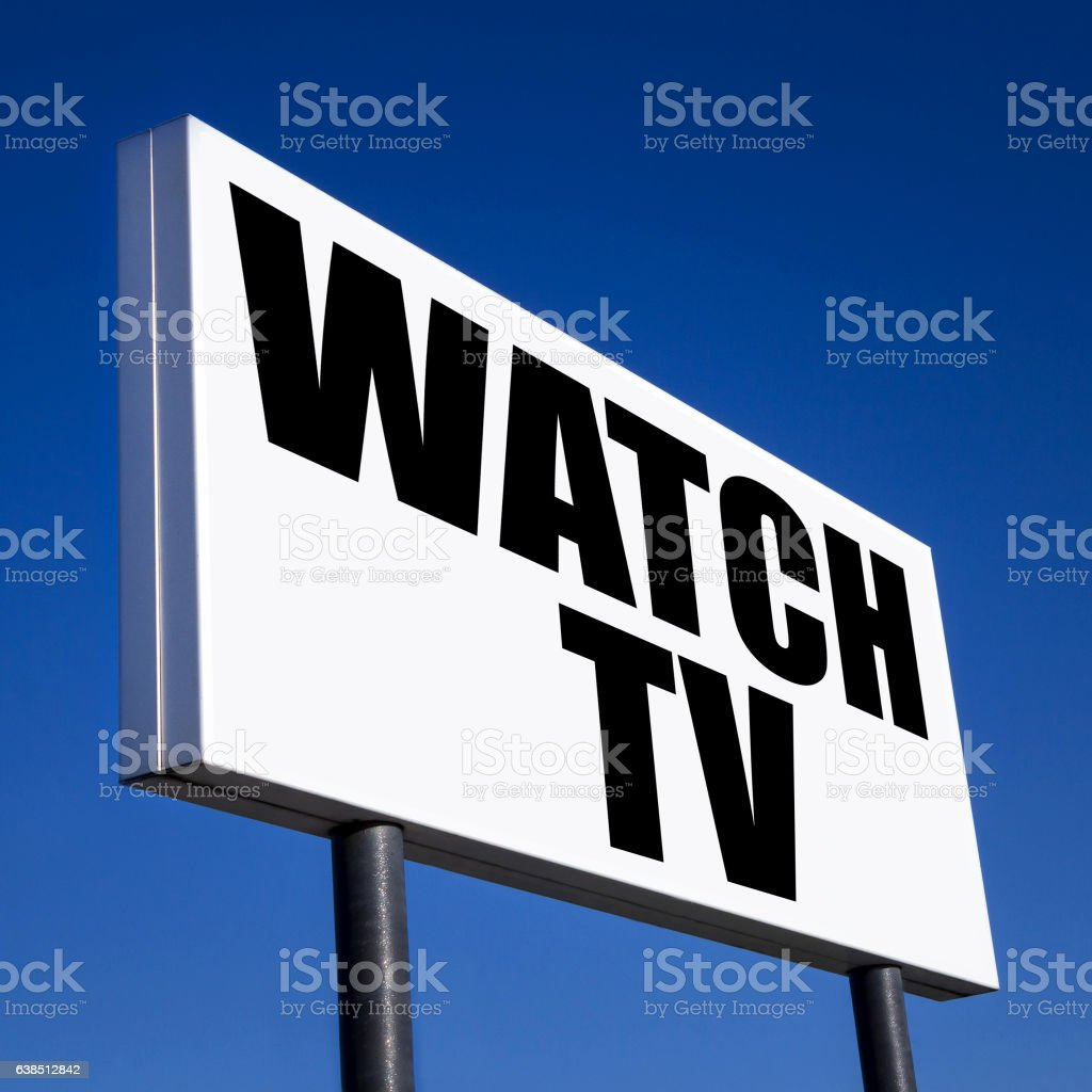 Order to Watch TV stock photo