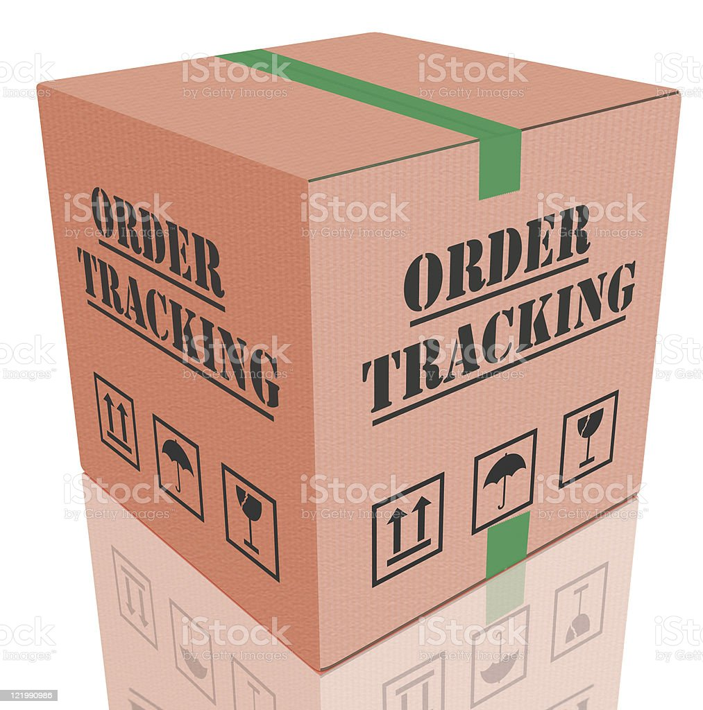 order tracking royalty-free stock photo