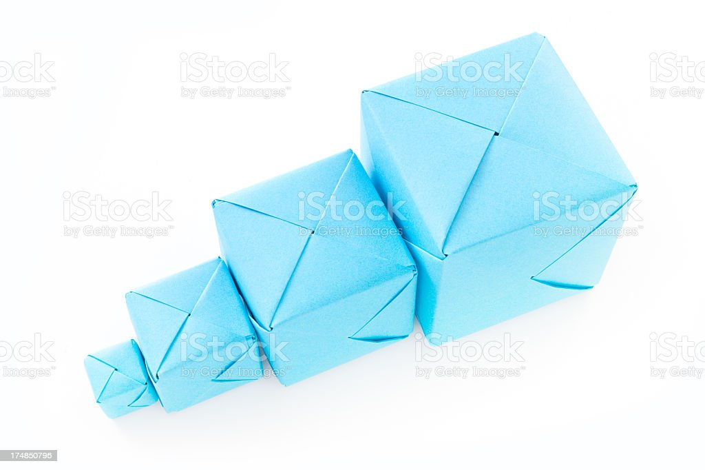 Ordered blue cubes royalty-free stock photo