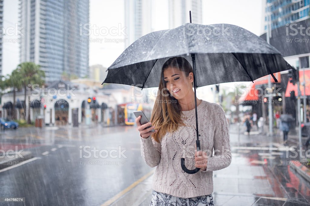 Ordering a taxi online stock photo