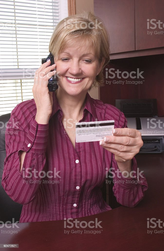 Ordering By Phone royalty-free stock photo