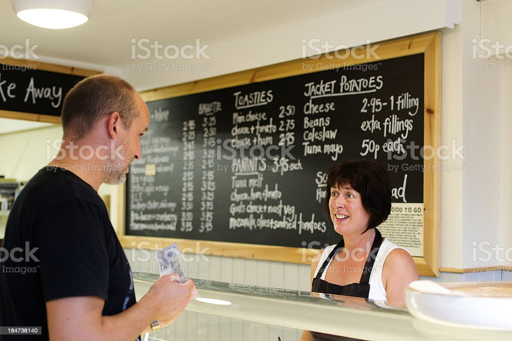 Ordering lunch royalty-free stock photo