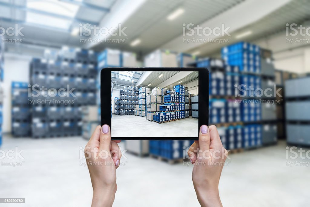 Ordering on-line from stock stock photo