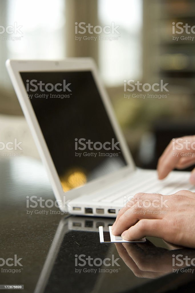 Ordering Online royalty-free stock photo