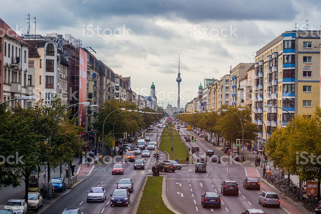 Ordinary day in Berlin stock photo