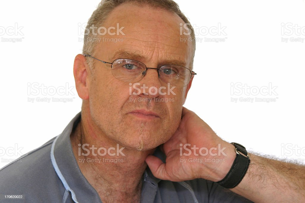 Ordinary guy in glasses royalty-free stock photo