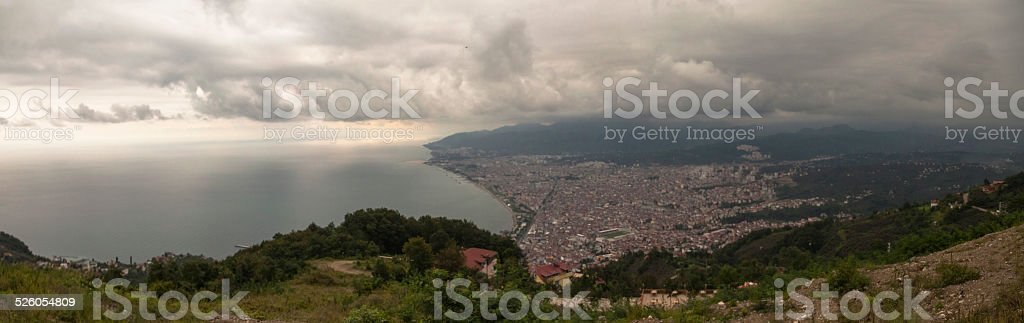 Ordu city panoramic view stock photo
