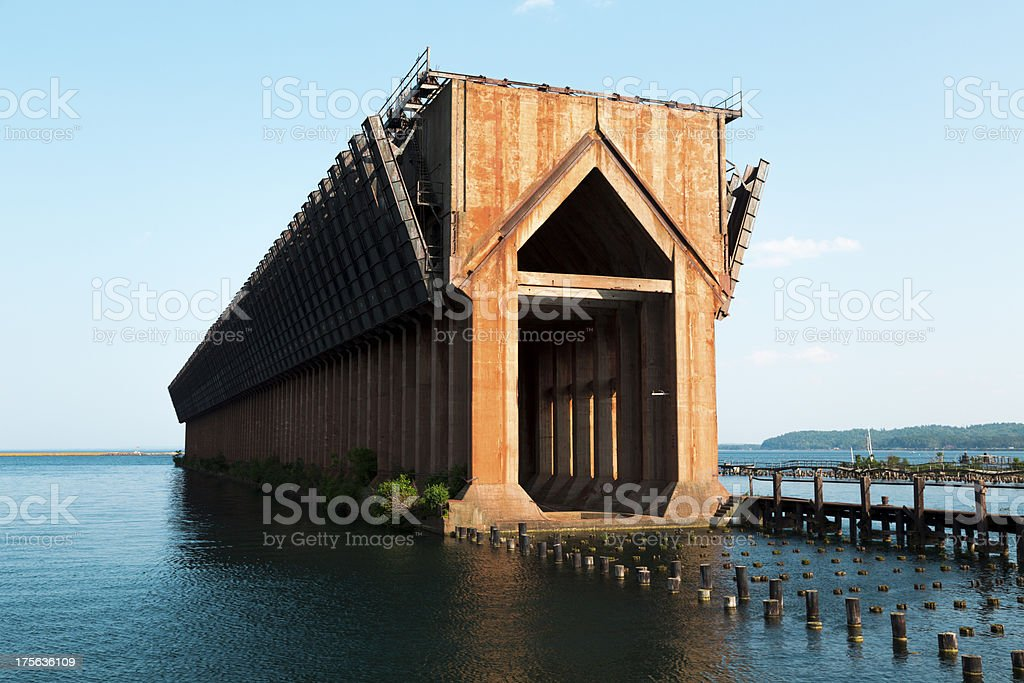 ore dock stock photo