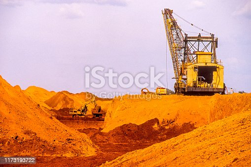 An industry extracting bauxite inside the brazilian part of the Amazon