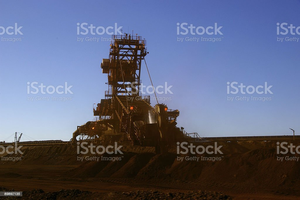 Ore handling 1 royalty-free stock photo