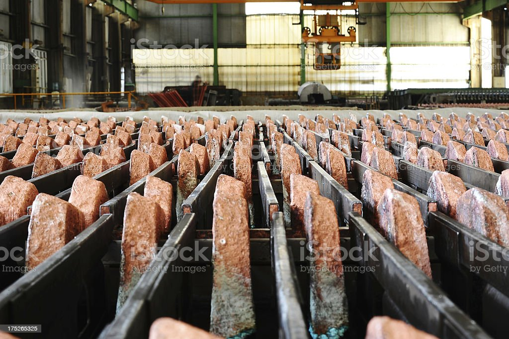 Ore in a warehouse royalty-free stock photo