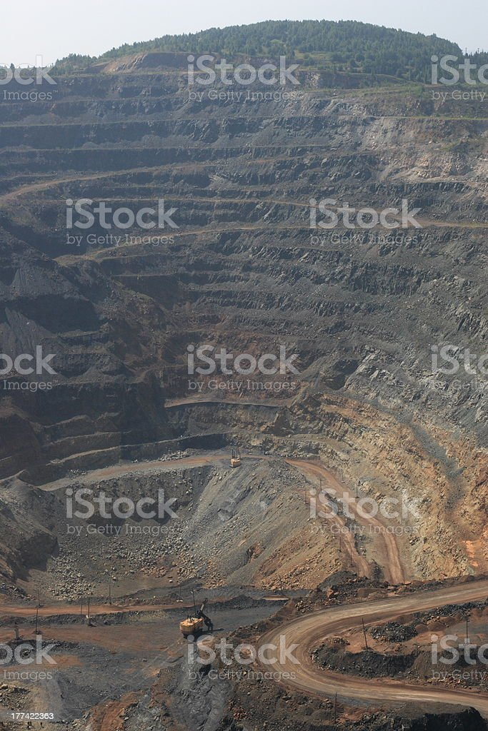 Ore open-pit mine royalty-free stock photo