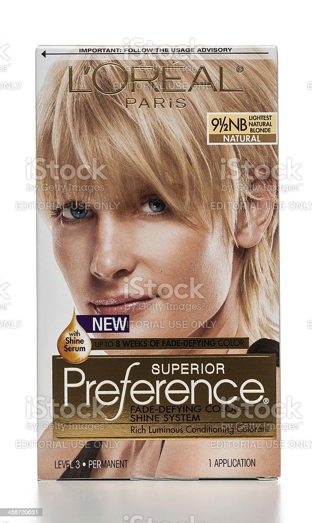 L'Oreal Superior Preference Haircolor stock photo
